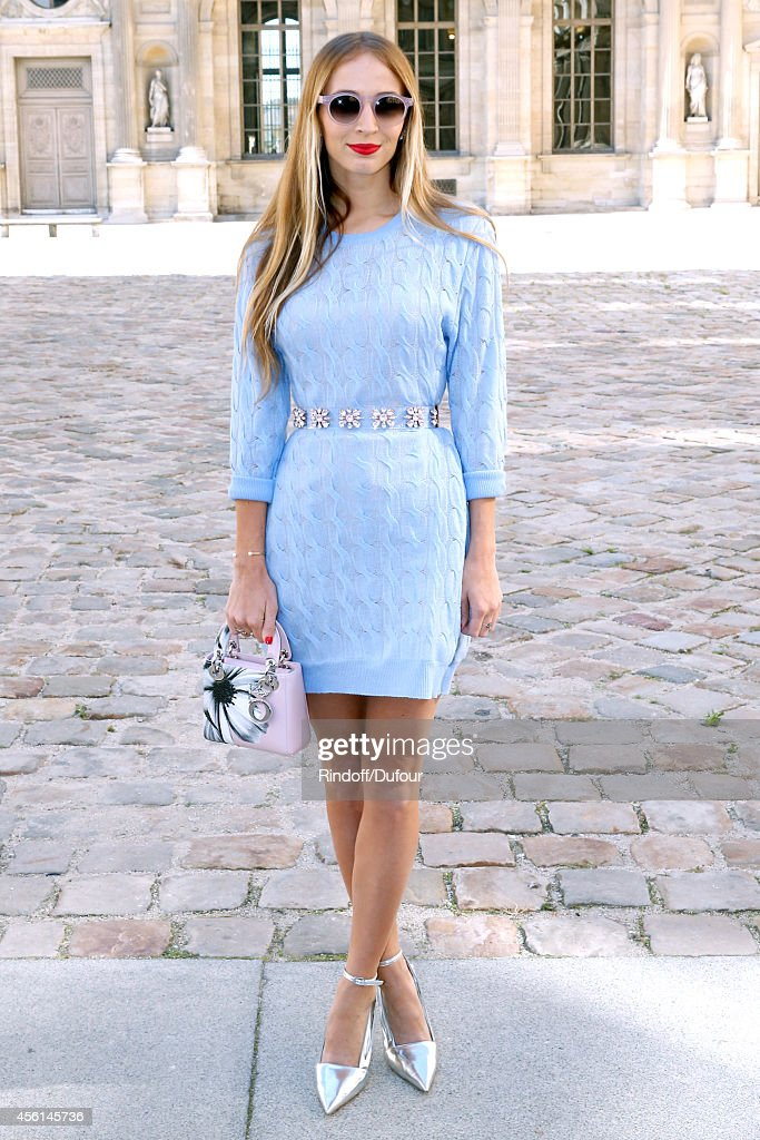 Harley Viera Newton attends the Christian Dior show as part of the Paris Fashion Week Womenswear Spring/Summer 2015 on September 26 2014 in Paris...