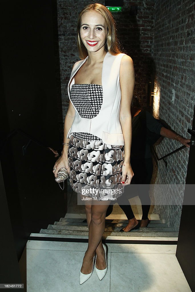 Harley Viera Newton attends the Glamour dinner for Patrick Demarchelier as part of the Paris Fashion Week Womenswear Spring/Summer 2014 at Monsieur Bleu restaurant on September 29, 2013 in Paris, France.