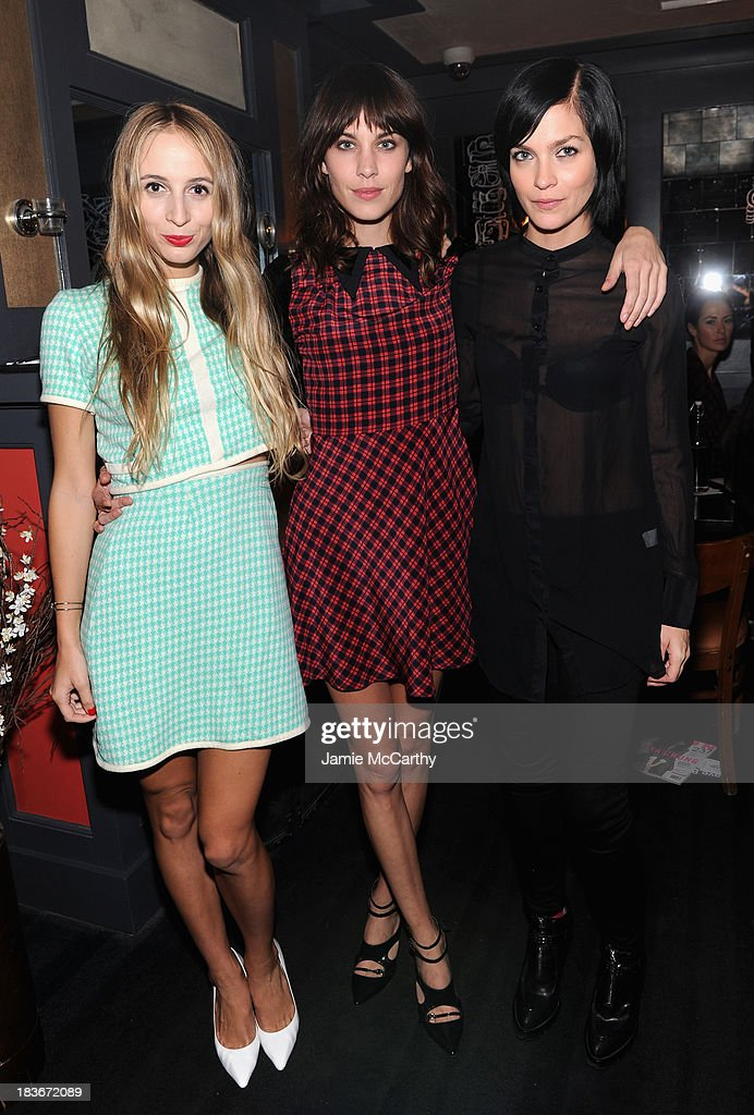 Harley Viera-Newton, Alexa Chung and model Leigh Lezark attend NYLON + Sanuk celebrate the October 'It Girl' issue with cover star Alexa Chung at La Cenita on October 8, 2013 in New York City.