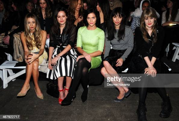 Harley VieraNewton Atlanta de Cadenet Leigh Lezark Rebecca Dayan and Tennessee Thomas attend the Christian Siriano show during MercedesBenz Fashion...