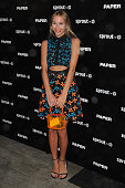 Harley VieraNewton attends Paper Magazine Sprout By HP DKNY Break The Internet Issue Release at 1111 Lincoln Road on December 4 2014 in Miami Florida