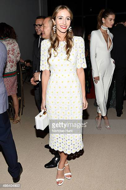 Harley VieraNewton attends the 12th annual CFDA/Vogue Fashion Fund Awards at Spring Studios on November 2 2015 in New York City