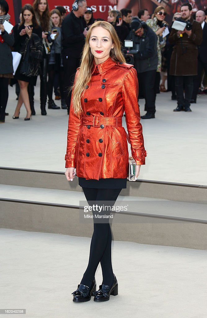 Harley Viera-Newton attends the Burberry Prorsum show during London Fashion Week Fall/Winter 2013/14 at on February 18, 2013 in London, England.