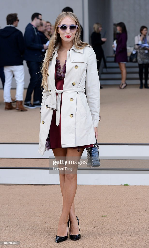 <a gi-track='captionPersonalityLinkClicked' href=/galleries/search?phrase=Harley+Viera-Newton&family=editorial&specificpeople=4322472 ng-click='$event.stopPropagation()'>Harley Viera-Newton</a> attends the Burberry Prorsum show during London Fashion Week SS14 at Kensington Gardens on September 16, 2013 in London, England.