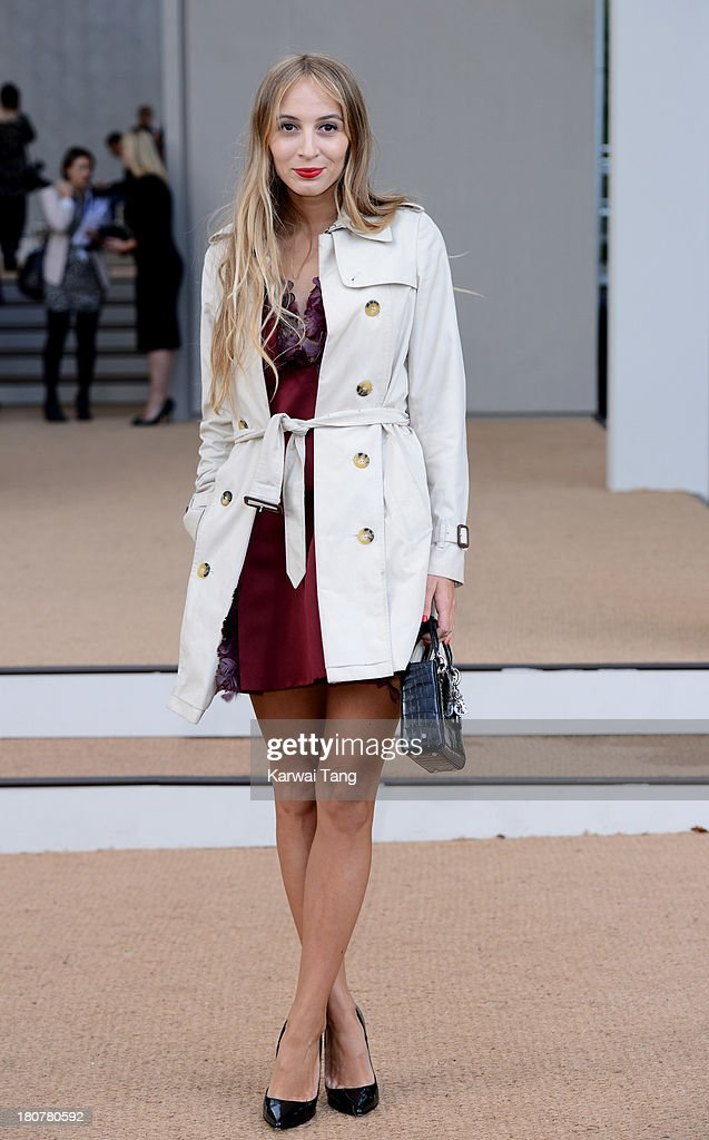 Harley Viera-Newton attends the Burberry Prorsum show during London Fashion Week SS14 at Kensington Gardens on September 16, 2013 in London, England.