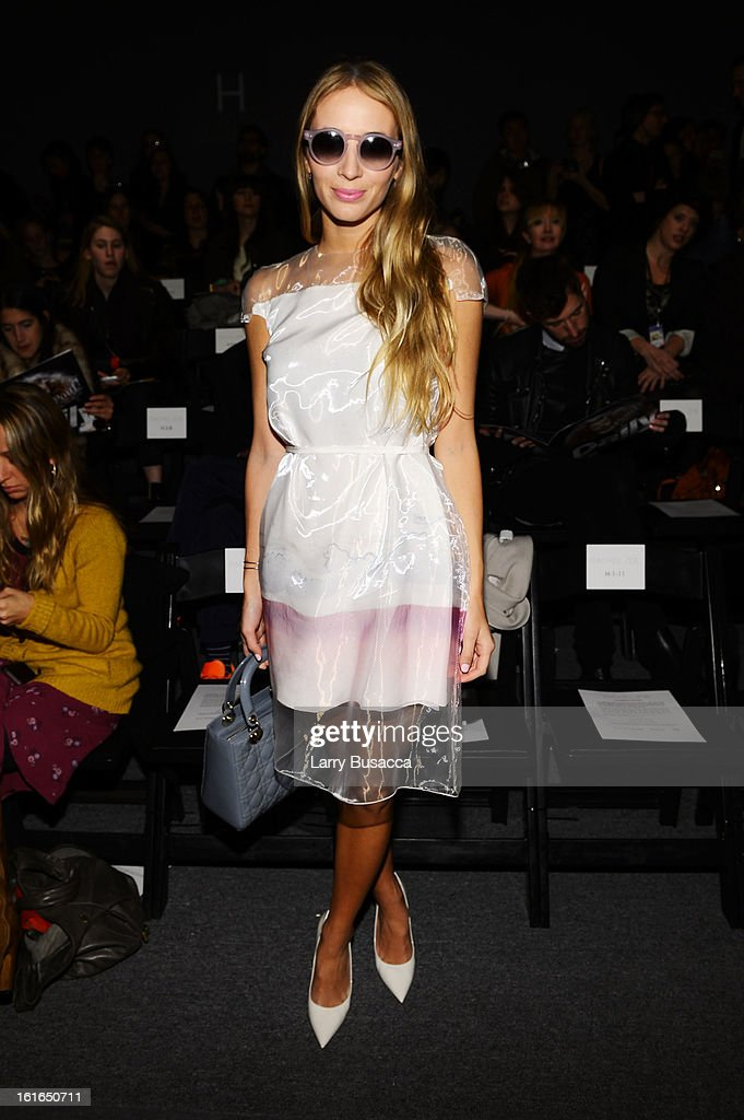 Harley Viera-Newton attends the Rachel Zoe Fall 2013 fashion show during Mercedes-Benz Fashion Week at The Studio at Lincoln Center on February 13, 2013 in New York City.