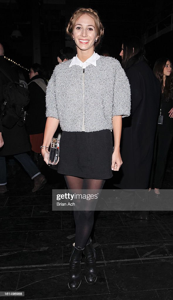 Harley Viera-Newton attends the Theyskens' Theory fall 2013 fashion show during Mercedes-Benz Fashion Week at Skylight Studios at Moynihan Station on February 11, 2013 in New York City.
