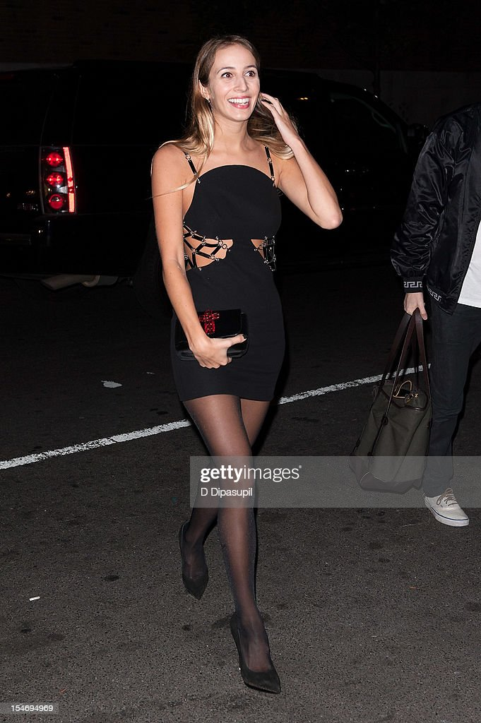 Harley Viera-Newton is seen arriving at The Waldorf Towers on October 24, 2012 in New York City.
