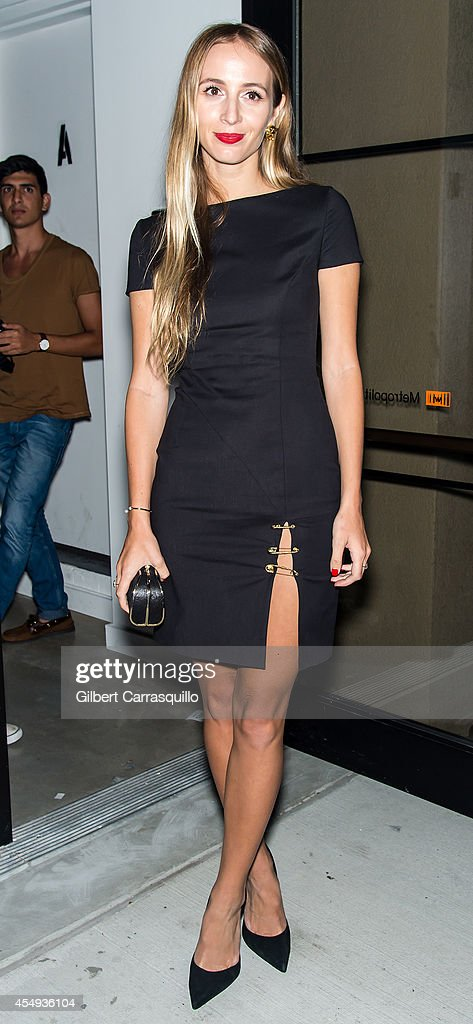 Harley VieraNewton is seen at the Versus Versace Spring 2015 Collection during MercedesBenz Fashion Week at Metropolitan West on September 7 2014 in...