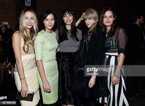 Harley VieraNewton Leigh Lezark Rebecca Dayan Tennessee Thomas and Atlanta de Cadenet attend the Christian Siriano fashion show during MercedesBenz...