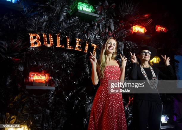 Harley VieraNewton showcases NEON In A Bottle by artist Lisa Schulte at Saatchi Art 'A Celebration of Art Color' marking the launch of the Bulleit...