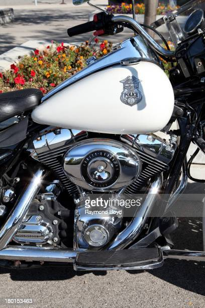 HarleyDavidson Canadian Police Motorcycle at the Summerfest Grounds in Milwaukee Wisconsin on AUGUST 31 2013
