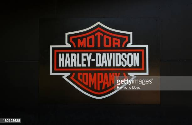 HarleyDavidson Motor Company signage outside the HarleyDavidson Pilgrim Road Powertrain Operations Plant in Menomonee Falls Wisconsin on AU30ST 30...