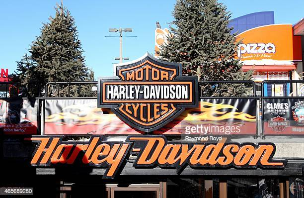 HarleyDavidson Motorcycles on February 28 2015 in Niagara Falls Ontario Canada