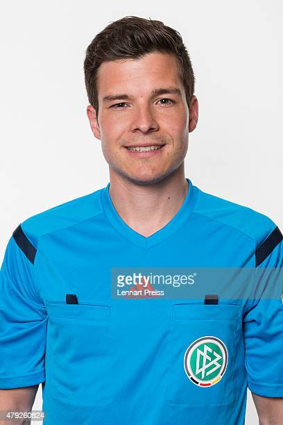 Harm Osmers poses during a photo shoot prior to the annual referee course on July 2 2015 in Grassau Germany