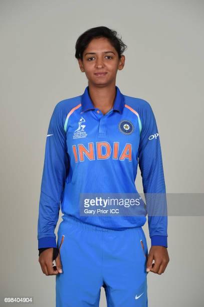 Harmanpreet Kaur of India on June 20 2017 in Derby England