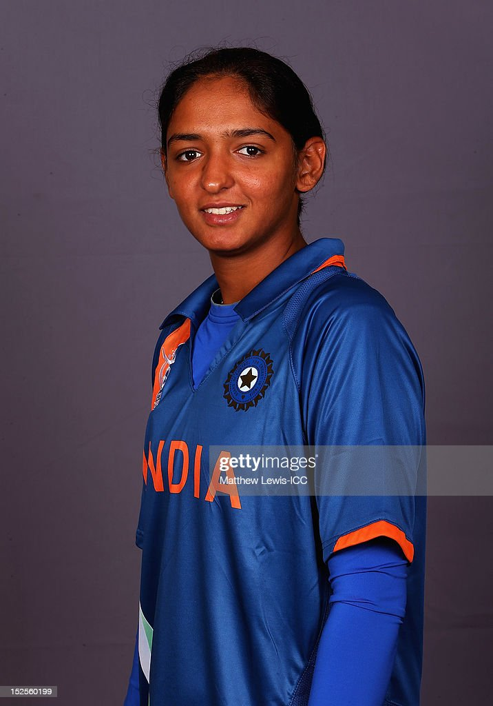 Harmanpreet Kaur of India Womens Cricket Team poses for a portrait ahead of the Womens ICC World T20 at the Galadari Hotel on September 22, 2012 in Colombo, Sri Lanka.