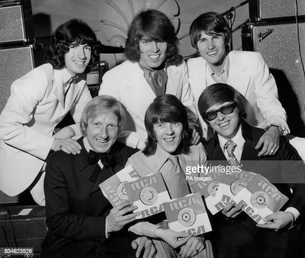 'Harmony Grass' the British pop group that changed it's name from 'Tony Rivers and the Castaways' pictured in London with their new disc 'First Time...