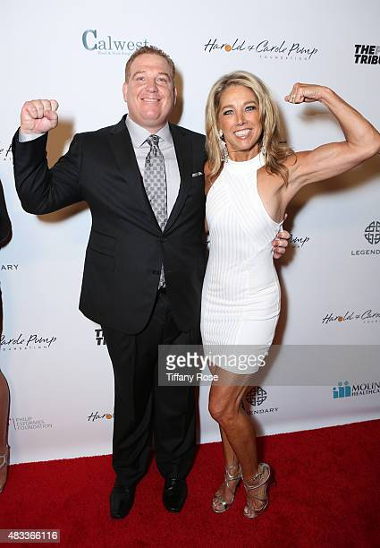 Harold and Carole Pump Foundation Founder Dana Pump and President and CEO of the LadyLike Foundation Leah Pump and fitness instructor Denise Austin...