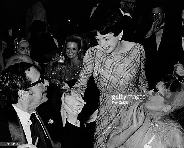 Harold Arlen and Judy Garland attend New York Cultural Foundation Gala Honoring Stanley Adams on October 15 1967 at Philharmonic Hall at Lincoln...