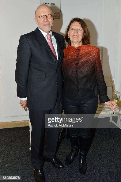 Harold Braun and Ute Braun attend the UN Women For Peace Association's Reception to Celebrate 2017 Award Luncheon Honorees at Neue Galerie on January...