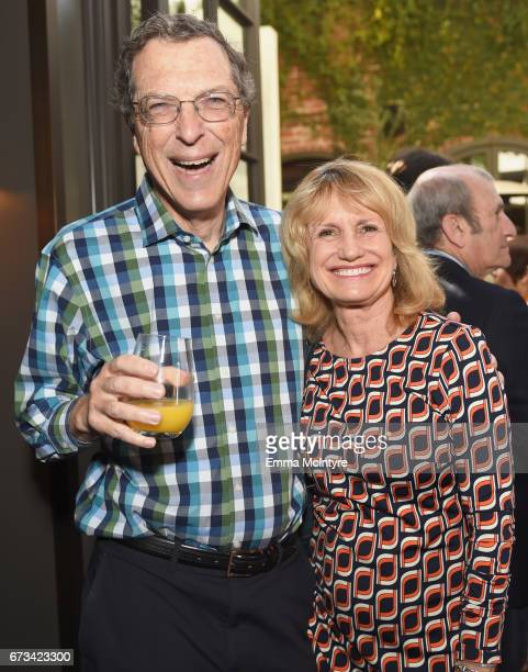 Harold Brown and Melanie Cook attend The Hollywood Reporter Power Lawyers Breakfast 2017 at Spago on April 26 2017 in Beverly Hills California