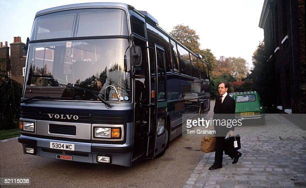 Harold Brown Butler For The Prince Princess Of Wales Boards Coach At Kensington Palace At The Start Of A Royal Tour