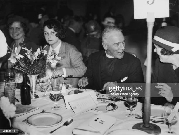 Harold Davidson Rector of Stiffkey in Norfolk at a Foyles Literary Luncheon at the Grosvenor House Hotel London 19th May 1933 Davidson was defrocked...