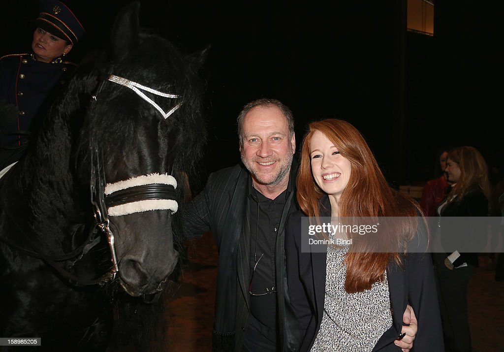 Harold Faltermeyer and Bianca Faltermeyer attend the show 10 years of Appassionata - Friends Forever on January 4, 2013 in Munich, Germany.