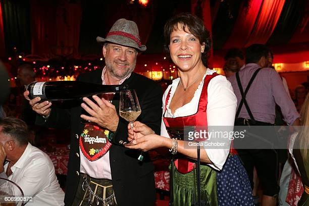 Harold Faltermeyer and Janina Hartwig during the Birgitt Wolff's PreWiesn party ahead of the Oktoberfest at Hippodrom in Postpalast on September 16...