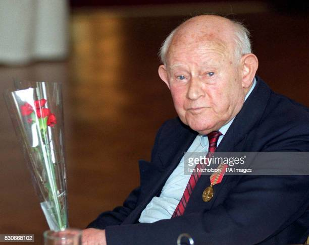 Harold Goodwin from Bournemouth Dorset at a presentation to commemorate the 50th Anniversary of the Great Patriotic War 194145 * Veterans who...