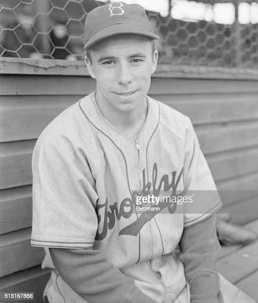 Harold Reese infielder brought from Louisville who is expected to fill the shortstop position should manager Leo Durocher stay on the bench is...