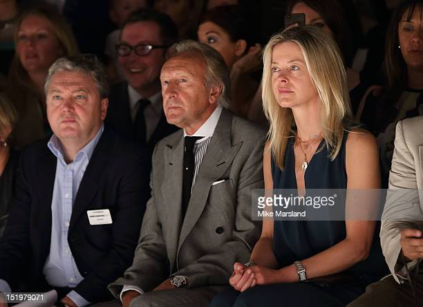Harold Tillman and Lady Helen Taylor attend the front row for the Maria Grachvogel show on day 1 of London Fashion Week Spring/Summer 2013 at the...