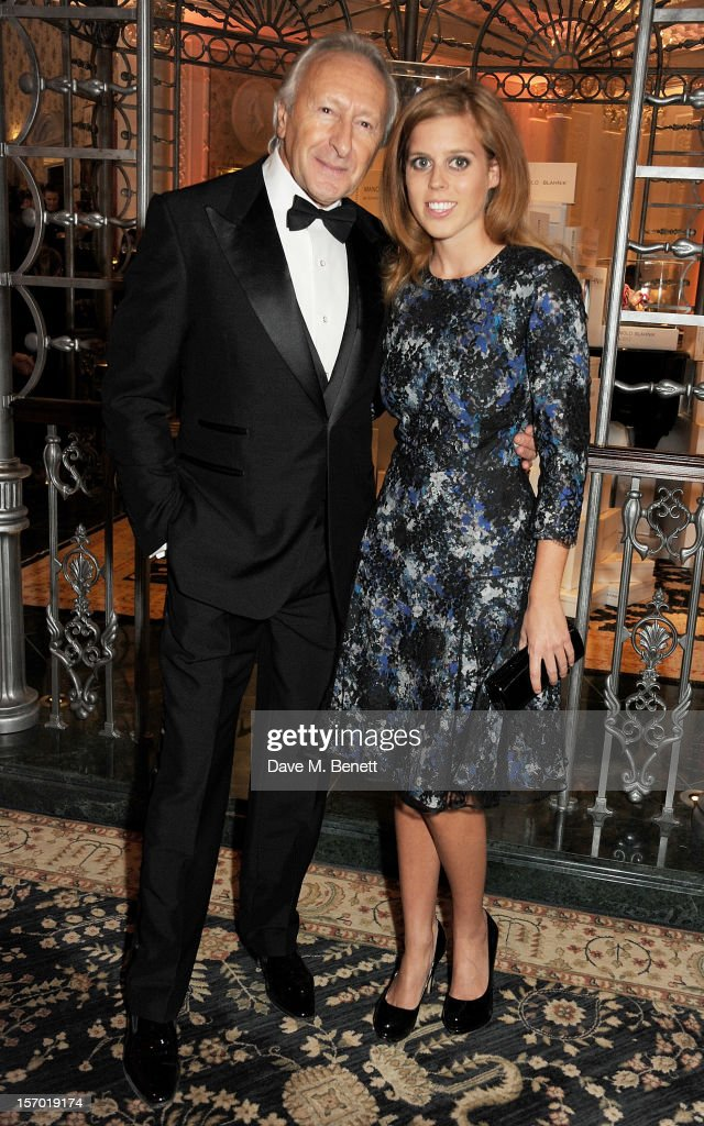 Harold Tillman (L) and Princess Beatrice of York attend a drinks reception at the British Fashion Awards 2012 at The Savoy Hotel on November 27, 2012 in London, England.
