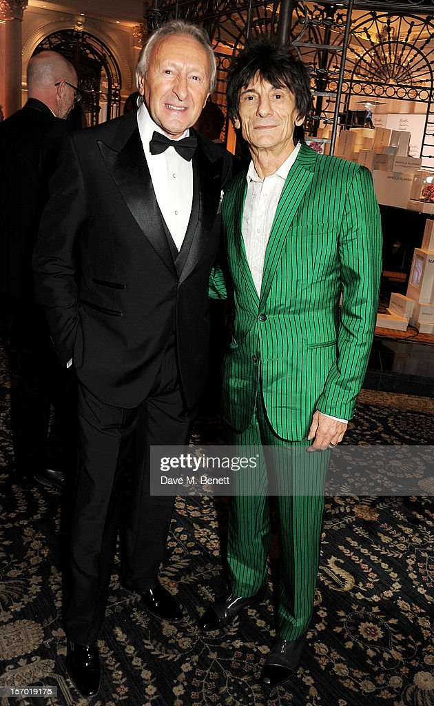 Harold Tillman (L) and Ronnie Wood attend a drinks reception at the British Fashion Awards 2012 at The Savoy Hotel on November 27, 2012 in London, England.