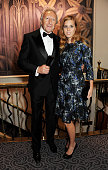 Harold Tillman winner of the Special Recognition award poses with Princess Beatrice of York at the British Fashion Awards 2012 at The Savoy Theatre...