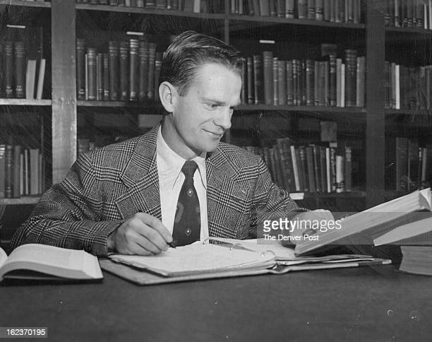 NOV 30 1950 Harold van den Berg of Johannesburg Union of South Africa one of the forty students at the Conservative Baptist Theological seminary...