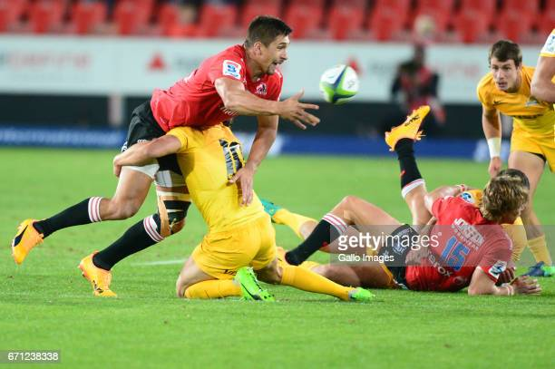 Harold Vorster of the Lions during the Super Rugby match between Emirates Lions and Jaguares at Emirates Airline Park on April 21 2017 in...