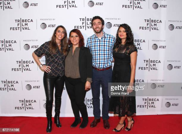 Haroula Rose Valeria Lopez Alex Coffey and Melonie Diaz attend Tribeca TV Pilot Season 'Lost and Found' showing during the 2017 Tribeca Film Festival...