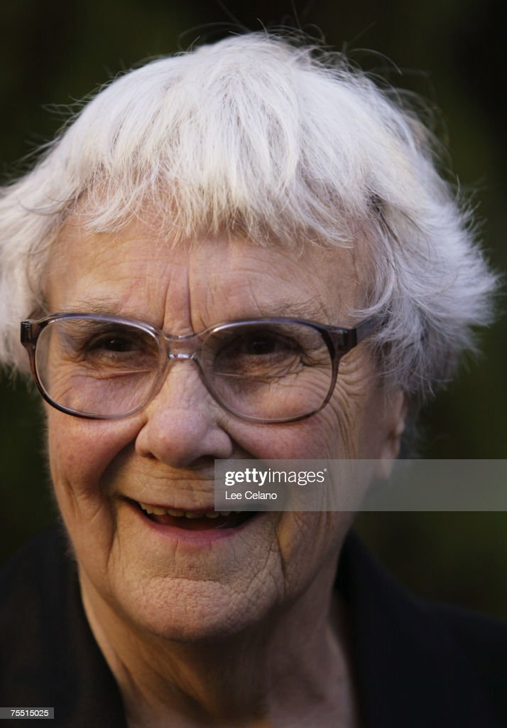 Harper Lee at the Los Angeles Central Library in Los Angeles, California
