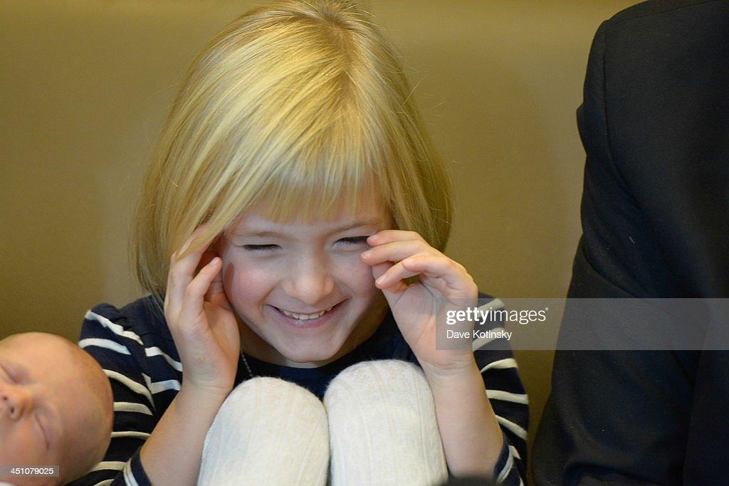 Harper Petitgout departs AtlantiCare Regional Medical Center on November 21, 2013 in Pomona, New Jersey. Daughter Nora Kara Kennedy was born at 3:11pm on November 19, 2013.