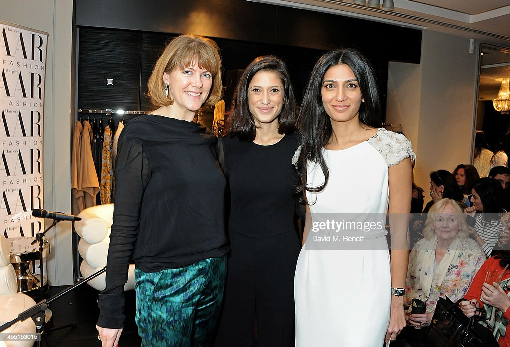Harper's Bazaar Digital and Development editor Sacha Bonsor, Fatima Bhutto and <a gi-track='captionPersonalityLinkClicked' href=/galleries/search?phrase=Megha+Mittal&family=editorial&specificpeople=5686284 ng-click='$event.stopPropagation()'>Megha Mittal</a> attend the ESCADA/Harper's Bazaar book reading with Fatima Bhutto, reading from her novel 'The Shadow Of The Crescent Moon', at the ESCADA Knightbridge boutique on December 11, 2013 in London, England.