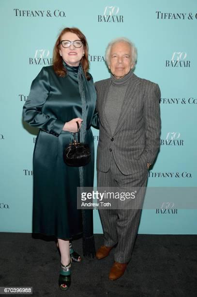 Harper's Bazaar EditorinChief Glenda Bailey and designer Ralph Lauren attend Harper's BAZAAR 150th Anniversary Event presented with Tiffany Co at The...