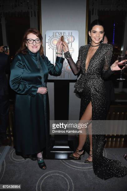 Harper's Bazaar EditorinChief Glenda Bailey and Kendall Jenner attend Harper's BAZAAR 150th Anniversary Event presented with Tiffany Co at The...