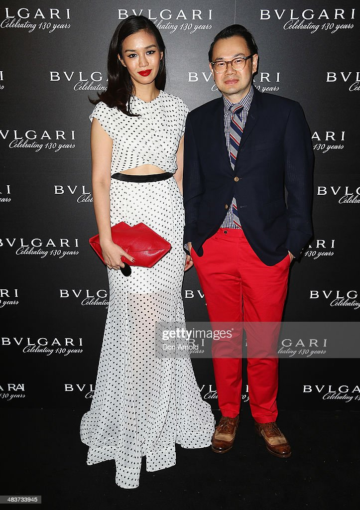 Harper's Bazaar Thailand Editor-in-Chief Duang Poshanonda and Vogue Thailand Editor in Chief Kullawit Laosuksri pose at the 130th Anniversary of Bvlgari Gala Dinner at a private residence in Darling Point on April 10, 2014 in Sydney, Australia.
