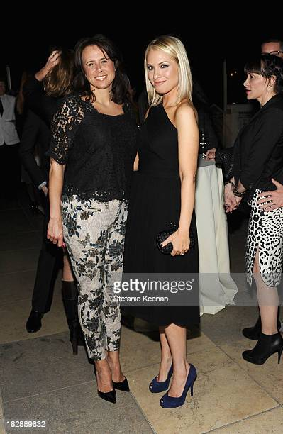 Harper's Bazaar's Wendy Lauria and actress Leslie Grossman attend the Harper's BAZAAR celebration of the launch of Bravo TV's 'The Dukes of Melrose'...