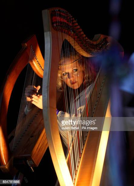 A harpist with dance group Goldfrapp performs at Ireland's largest boutique music festival The Electric Picnic The festival features acts including...
