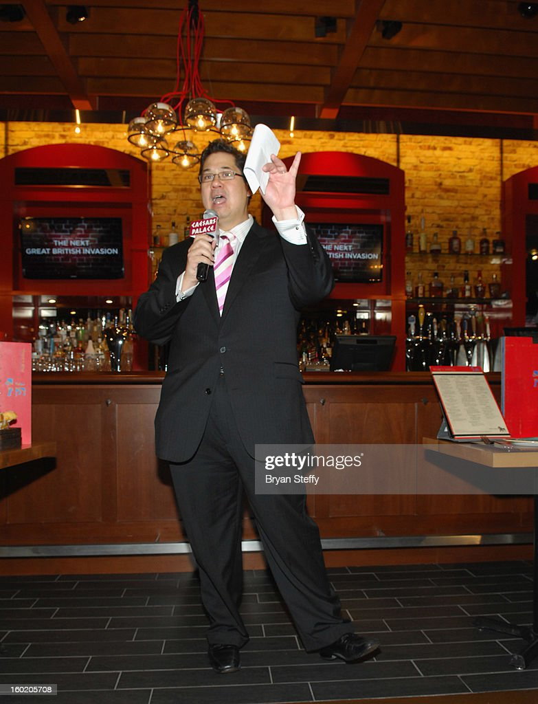 Harrah's Regional Vice President of Food & Beverage Jeffrey Frederick speaks during a traditional Sunday Roast at Gordon Ramsay Pub & Grill at Caesars Palace in celebration of the opening of the restaurant as well as Gordon Ramsay BurGR at Planet Hollywood Resort & Casino on January 27, 2013 in Las Vegas, Nevada.