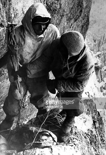 Harrer Heinrich 19122006Alpinist geographer writer AFirst ascent of Eiger north face 2124July 1938 Harrer together with Fritz Kasparek in the...