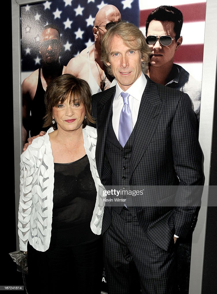 Harriet Bay (L) and <a gi-track='captionPersonalityLinkClicked' href=/galleries/search?phrase=Michael+Bay&family=editorial&specificpeople=240532 ng-click='$event.stopPropagation()'>Michael Bay</a> arrive at the premiere of Paramount Pictures' 'Pain & Gain' at TCL Chinese Theatre on April 22, 2013 in Hollywood, California.